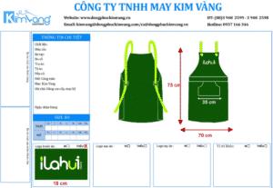 May đồng phục tạp dề giá rẻ HCM